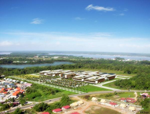 perspective du centre hospitalier de l'ouest guyanais à cayenne