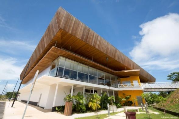 photo du gymnase de l'IFAS à cayenne
