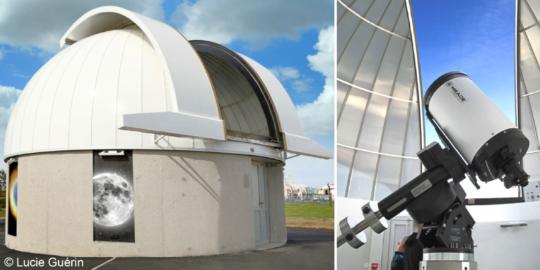 perspective de la coupole astronomique de la cité de l'espace
