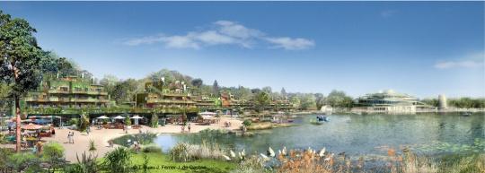 perspective du village nature aqualagon