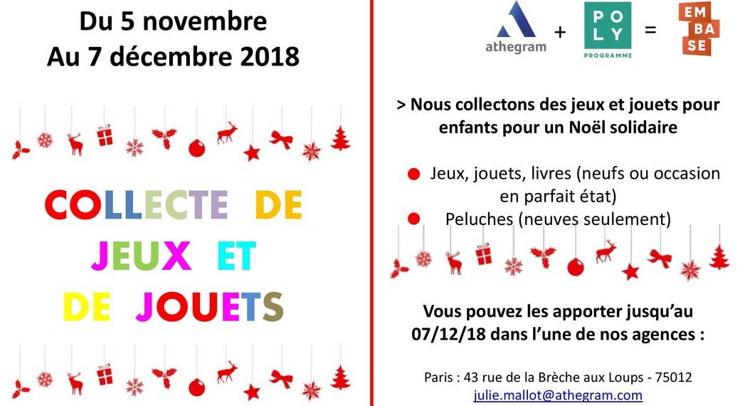 Collecte jouets Croix Rouge 2018