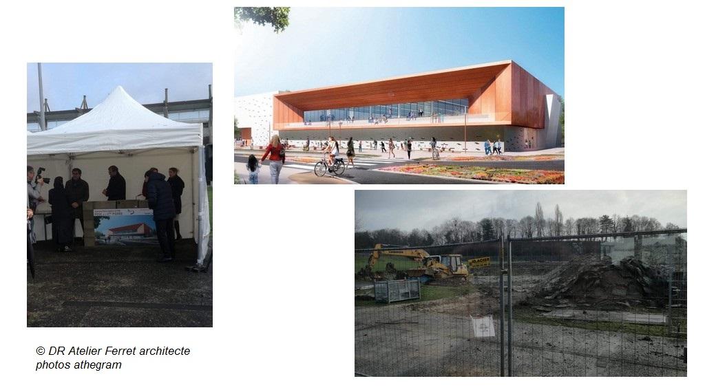 Première pierre Gymnase Bry sur Marne Le Parisien 2019
